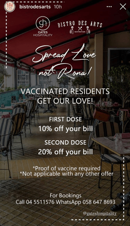 Special Discounts to the vaccinated people in Dubai 1