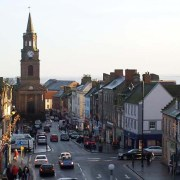 View of Berwick town from the bridge