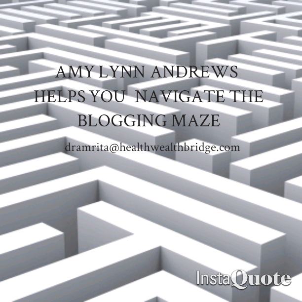 Amy helps traverse the Blogging maze