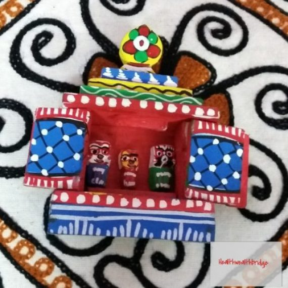 The miniature wooden Lord Jagannath ,I got for my little one