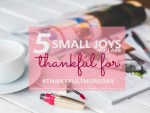 Thankful Thursdays (week 21):Small joys and big happiness