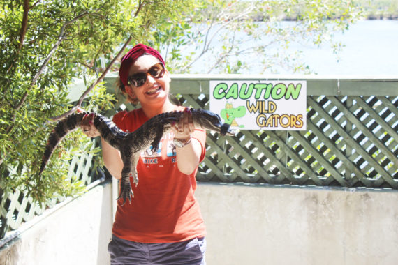 Holding Baby Gator at Everg :Pic credit Ana Ojha
