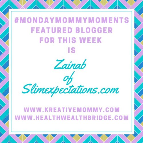 Monday MommyMoments featured winner this week is Zainab