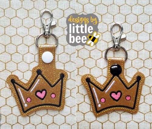 Crown snap tabs:Designs by Little Bee