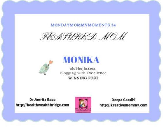 #MondayMommyMoments 34 Winning Post -Monika