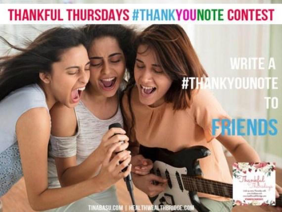 Thank you friends #ThankfulThursdays
