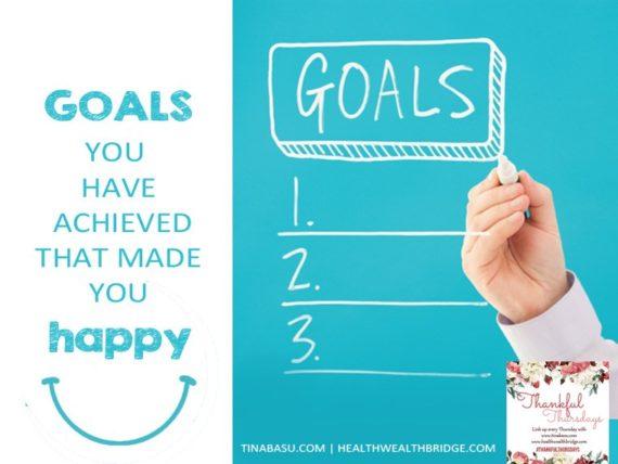 Goals Thankful Thursdays