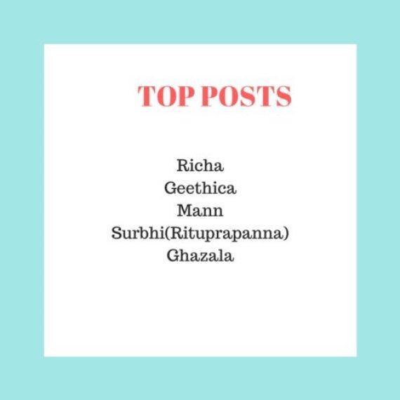 Top posts :Super Blogger Challenge 2018 week 6