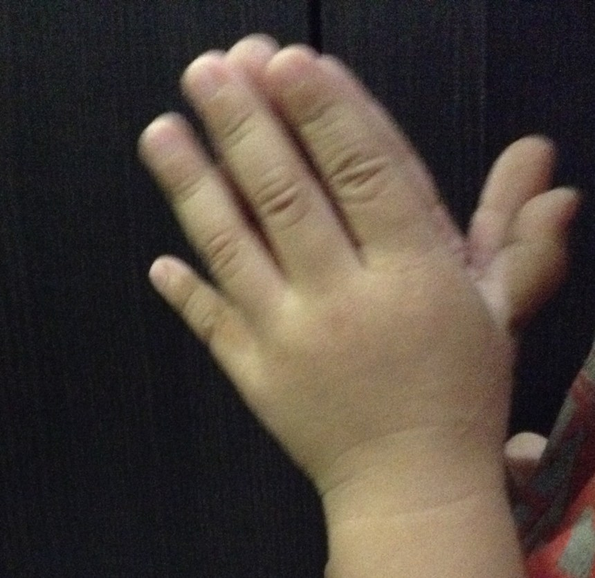 praying hands of a child