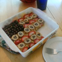 Red White and Blue Baked Oatmeal