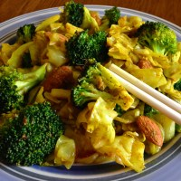 Spiced Cabbage, Broccoli, and Almond Stir-Fry (Paleo)
