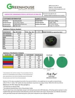 1000mg CBD Isolate CoA Lab Results 2018 10