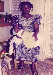 My namesake, Yaw Werner, as a babe in his mother's arms.