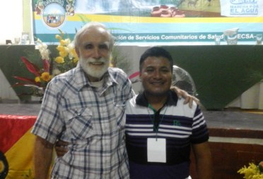 Werner Obeniel and David Werner at ASECSA Seminar, Chimltenango, Guatemala, July 2016