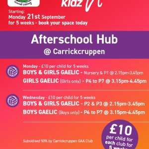Healthy Kidz Afterschools at Carrickcruppen
