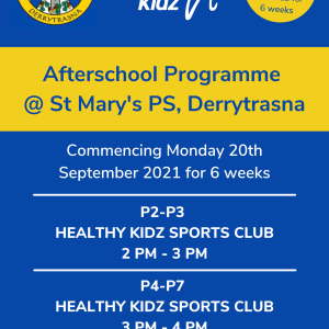 Healthy Kidz Afterschools at St Mary's PS Derrytrasna