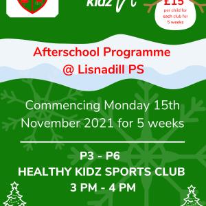 Healthy Kidz Afterschools at Lisnadill PS