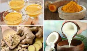 MIX TURMERIC, GINGER AND COCONUT OIL AND DRINK IT ONE HOUR BEFORE BED