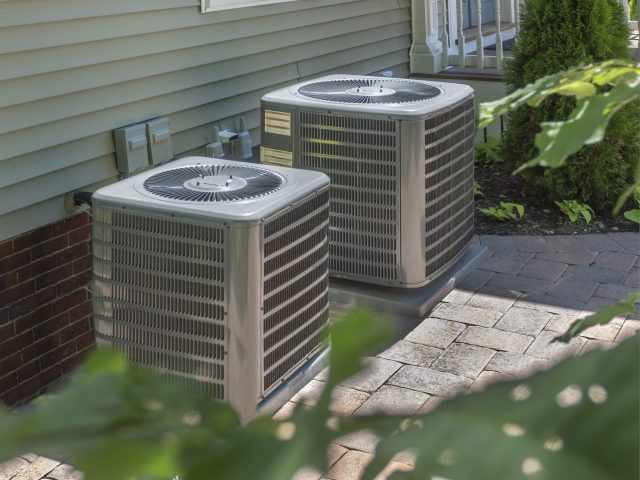 HVAC cleaning on heating and air conditioning residential units.