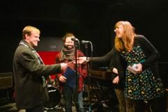 Julie gives Jim Rugg 3rd prize