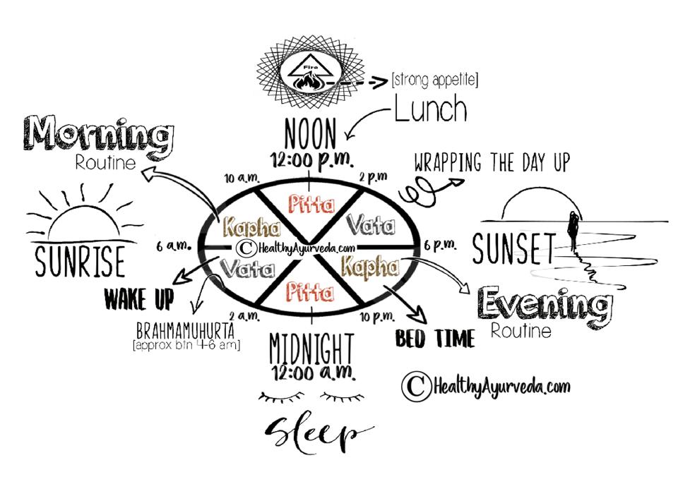 The Ayurveda Dosha Clock