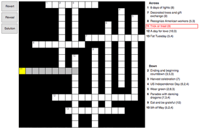 Celebrations Crossword