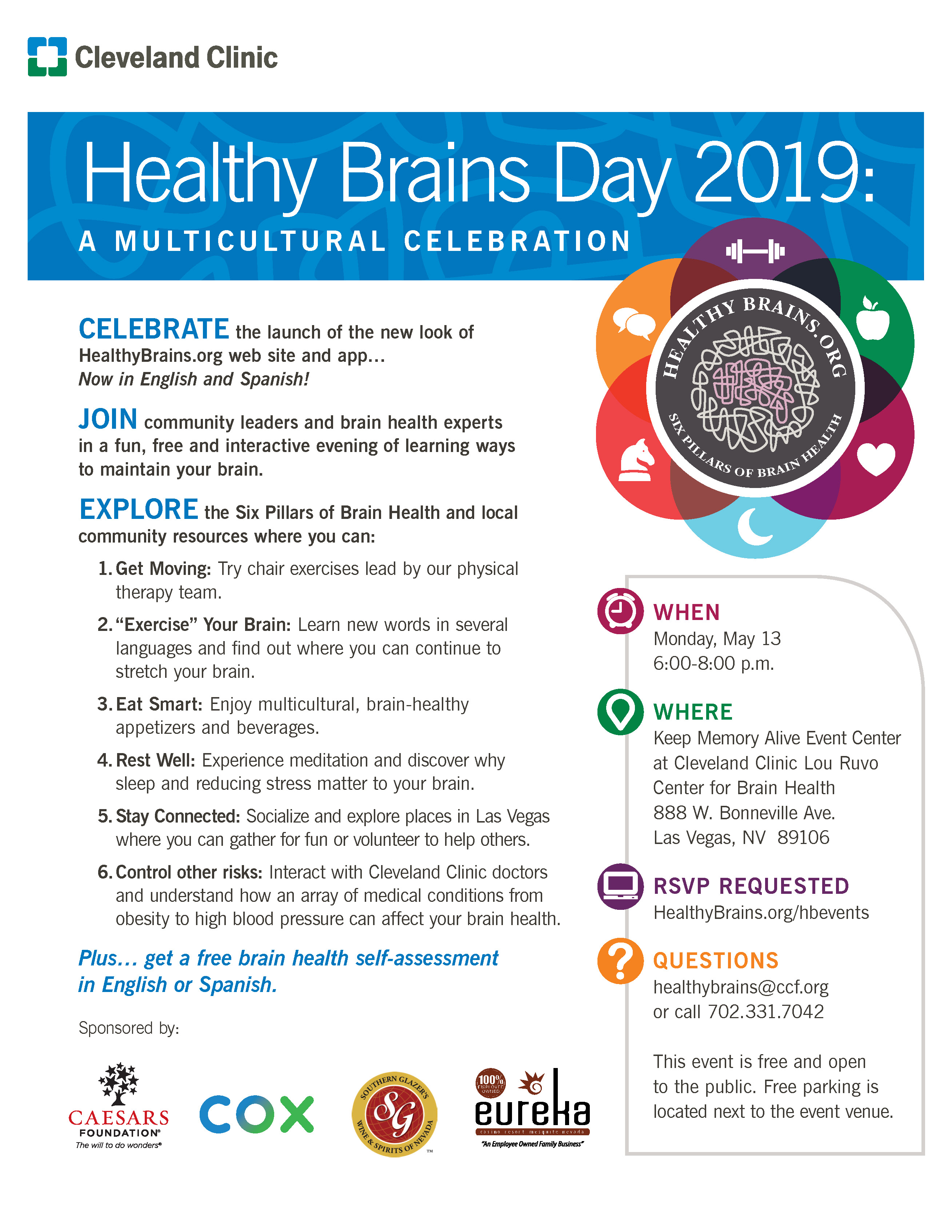 Healthy Brains Day 2019: A MULTICULTURAL CELEBRATION