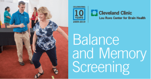 Balance and Memory Screening