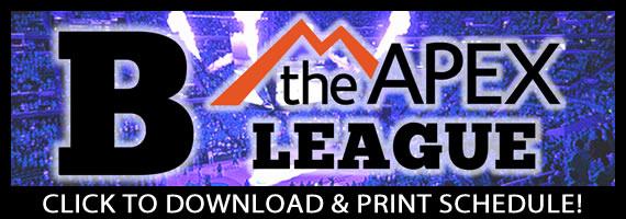 APEX B League Click For Schedule Button