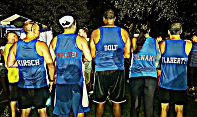 Healthy Buffalo Running Team Back