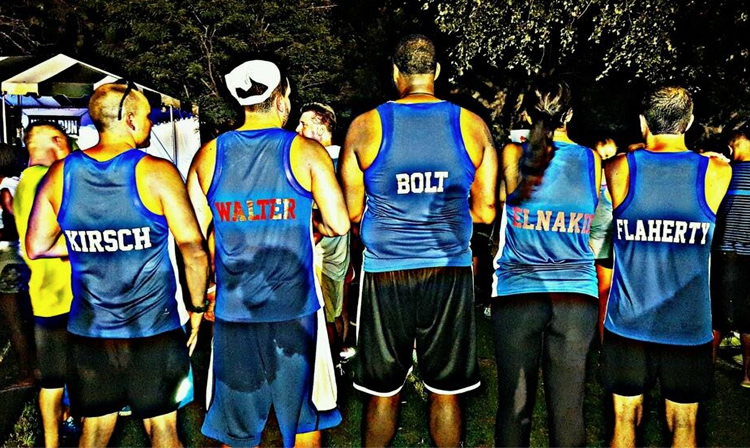 Healthy Buffalo Running Team Back