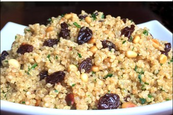 Toasted Quinoa w/Raisins & Pine Nuts