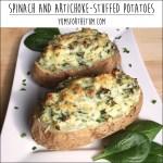 Spinach and Artichoke Stuffed Potatoes