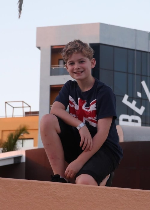 Leo Mills as seen while posing for a picture in Tenerife, Spain in December 2018