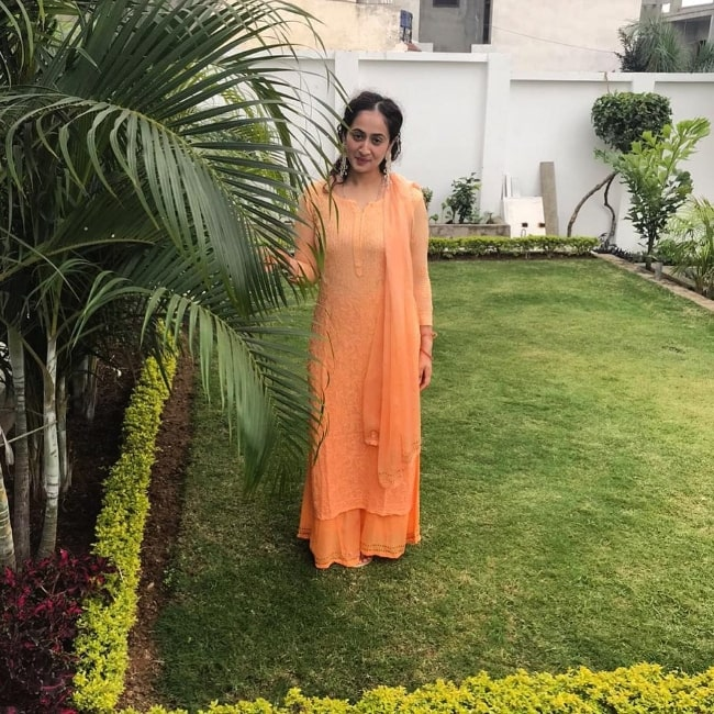 Ruchikaa Kapoor as seen while posing for a picture
