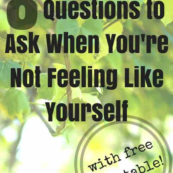Whats Wrong With Me? 8 Questions to Ask When You Don't Feel Like Yourself {FREE PRINTABLE!}
