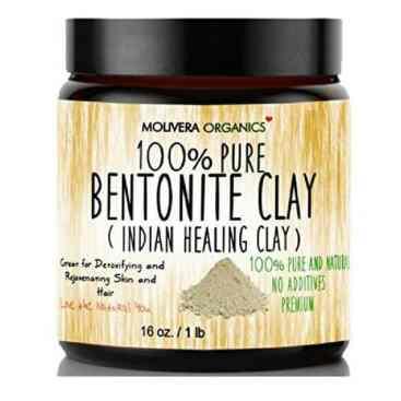 Jar of pure bentonite clay for all natural deodorant.