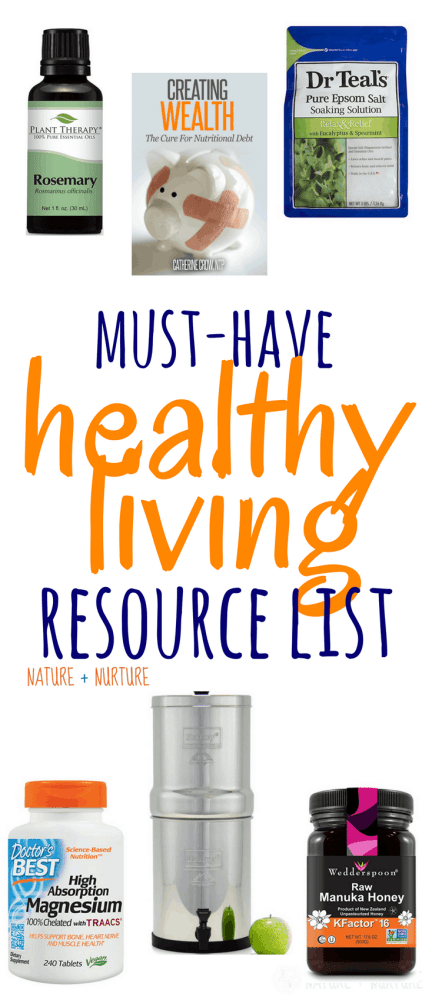 The ultimate list of the best health products and resources for your journey to natural wellness. Discover healthy tools, books, supplements, and more!
