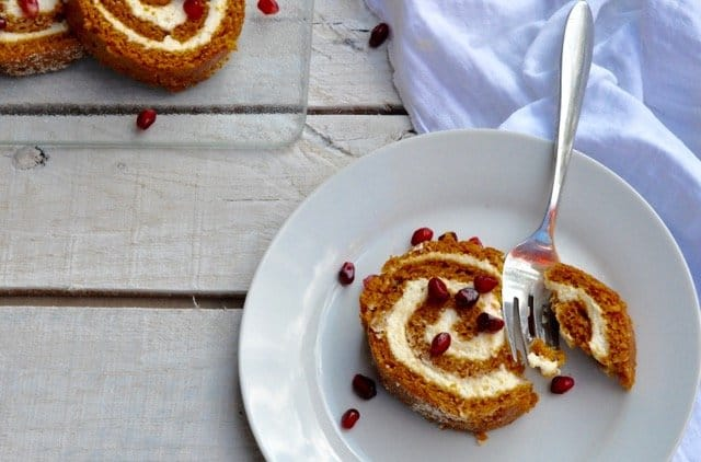 A lighter pumpkin roll with all the flavor but less sugar and fewer calories.