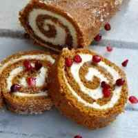 Healthy Pumpkin Roll Recipe {Less Sugar, Fewer Calories, Same Great Taste}