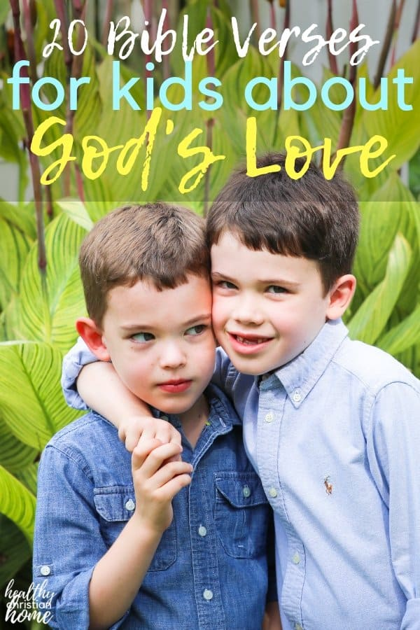 The Bible contains many examples of God's love, but this list compiles the BEST memory verses for kids. Help your child understand God's love better! #bibleverses #godlykids #godslove