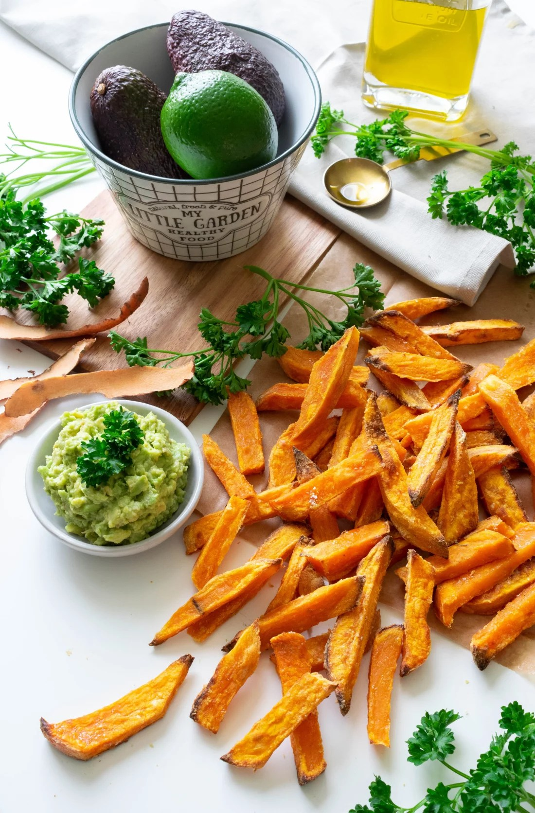 FRITES DE PATATE DOUCE - Healthy Clemsy
