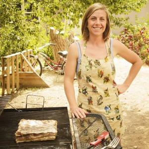 Farmer, and Healthy Communities' Farm to School liaison and cooking instructor, Rebekah Stetson