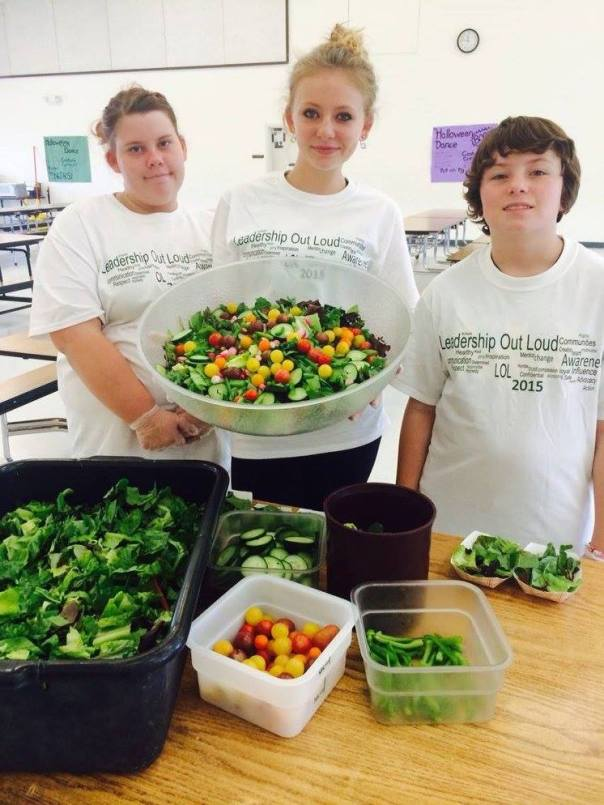 deb stand tall teams with salad bars