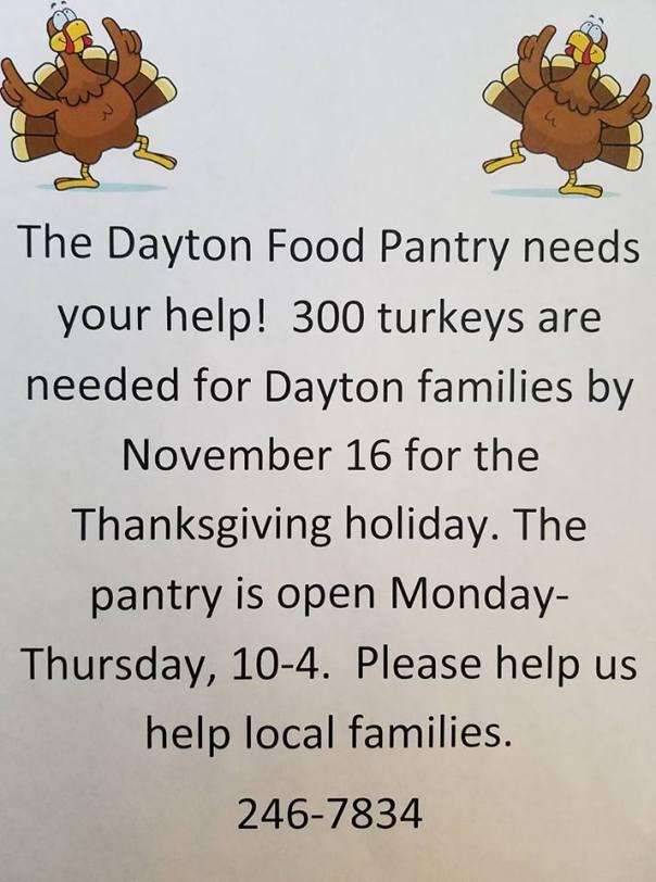 new turkey flyer dayton pantry 2017