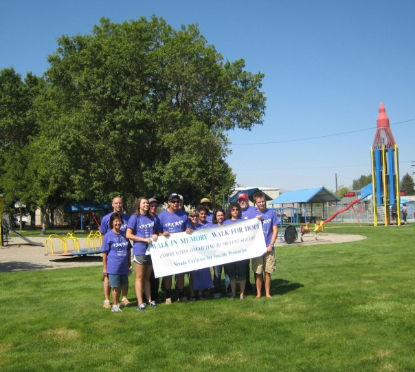 yerington walkers with banner