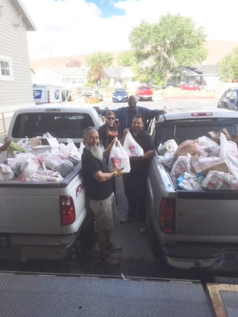 volunteers postal food drive one