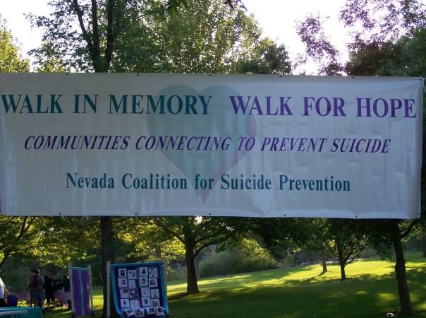 walk in memory banner