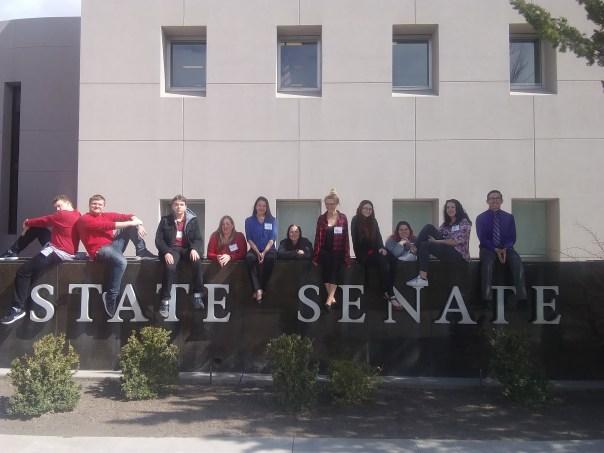 stand tall outside legislature