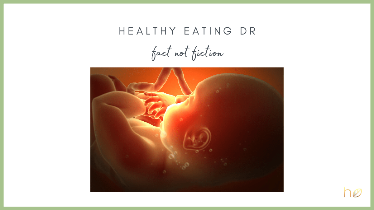 does what you eat affect your baby during pregnancy - foetal programming and folate supplementation